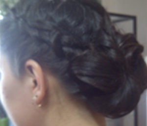 braided bun, women's hairstyle